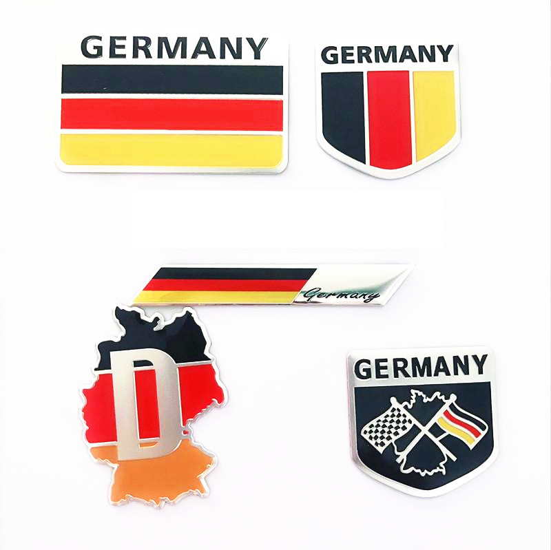 Aluminum Alloy Germany National Emblem German Flags Badge Car Stickers Automobiles Motorcycles Auto Tail Trunk Decor Acces