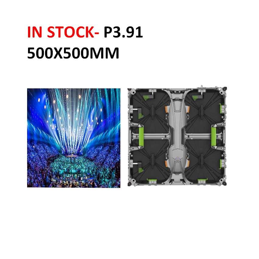 Hot Selling In Stock P3.91 Indoor 500x500mm Rental Led Display Panel