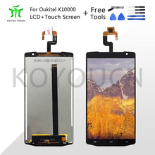 100% Tested 5.5 For Oukitel K10000 LCD Display+Touch Screen Digitizer Assembly Repair Parts+Free Tools for oukitel k6000 plus lcd display touch screen digitizer for oukitel k6000 plus display screen lcd phone parts free tools