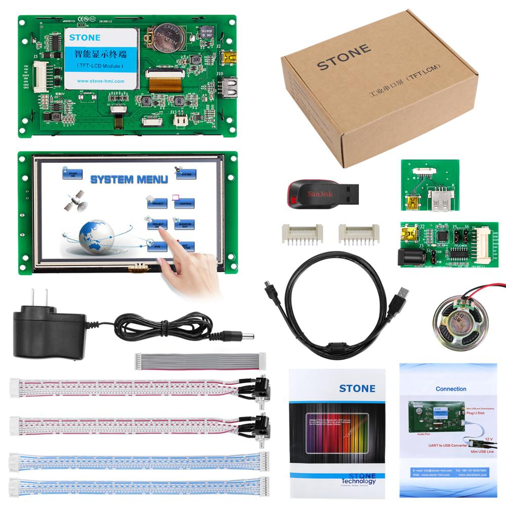 5 Inch 480 X 272 UART HMI TFT LCD Module With 65K Color Free Shipping