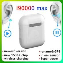 I90000 max tws 1:1 gps renomear 2nd tws fones de ouvido sem fio bluetooth tws i90000 pro android pk i9000 tws fones de ouvido