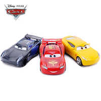 Disney Pixar Cars 2 3 Lightning McQueen Jackson Storm Cruz Ramirez Mater 1:55 Diecast Metal Alloy Model Car Boy Toy Kids Gift