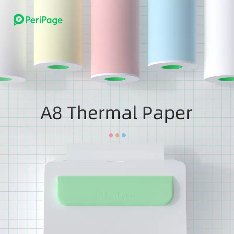 2021 PeriPage 56x30mm Thermal Paper label Paper Sticker Paper For Thermal Pocket Mini Printer A6 A8