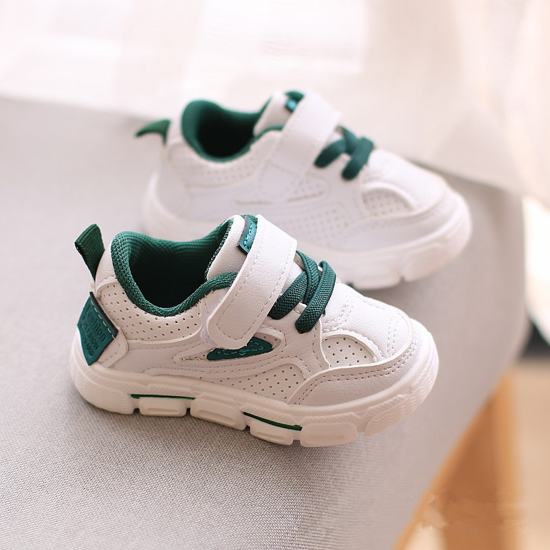 New Children's White Shoes Soft Bottom Boys Fashion Sneakers Baby First Walkers Toddler Casual Shoes