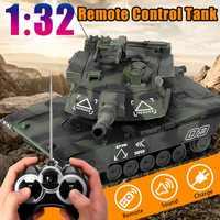1:32 RC guerra tanque táctico vehículo principal batalla militar tanque de Control remoto con disparar balas modelo electrónico Hobby niño Juguetes