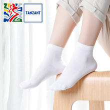 Tanzant Cux Antibacterial copper socks Moisture Wicking deodorant Breatheable women Bussiness Athletic Ankle Long Sock 5pairs цены
