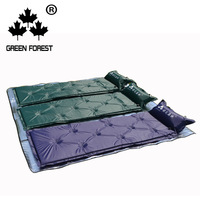 Green Forest Outdoor Camping Automatic Inflatable Pad Lunch Break Mattress Tent Moisture proof Pad Home Crawl Pad Thick Model