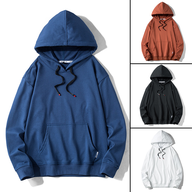 Solid Color Hoodies Streetwear Sweatshirt Hooded Man Cotton Pullover Men's Hoodies Sweatshirts For Men High Quality Men Fashions