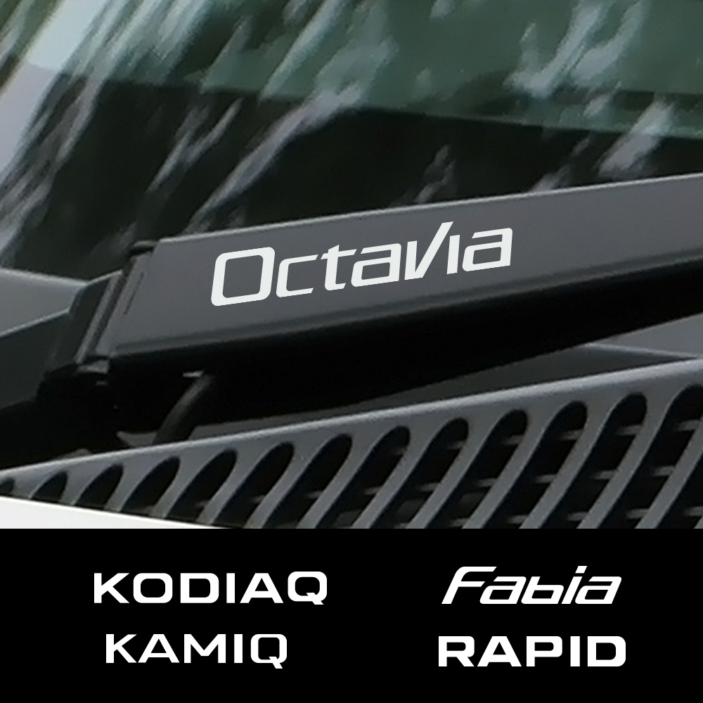 4PCS Auto Window Wiper Car Sticker For Skoda Octavia 2 A7 A5 Fabia 3 Rapid Superb 3 Kodiaq Scala Karoq Kamiq Car Accessories