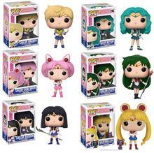 Funko POP Original Sailor Moon Chibiusa Meiou Setsuna Kaiou Michiru Vinyl Action Figures PVC Model Boy Girl Toys