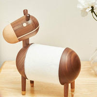 Nordic Tissue Box holder cute donkey tissue holder living room creative sanitary toilet paper holder Wood Home Decor LB43012