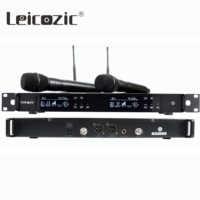 Leicozic Dual Wireless Microphone Professional mikrafon wireless mic microfonos inalambricos profesionales mike 751-800Mhz
