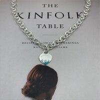 SHINETUNG TIFF 1: 1 925Sterling Silver Classic Fashion Green Enamel Splash Heart Pendant Necklace Logo Lady Birthday Gift