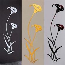 3D Diy Flower Shape Acrylic Wall Sticker Modern Bedroom Living Room Detachable Mural Wallpaper Art Deco Home