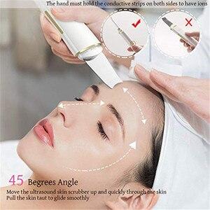 Image 3 - Haut Wäscher Gesichts Haut Wäscher Elektrische SPA Sanfte Mitesser Entferner Ultraschall Gesichts Reiniger Spachtel Gesicht Heben Massager