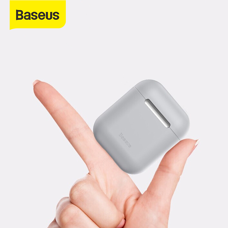<font><b>Baseus</b></font> Soft Silicone Case for Airpods 1 2 protective Cover for Airpods pro Wireless Bluetooth Earphones Case for Apple Aipods image