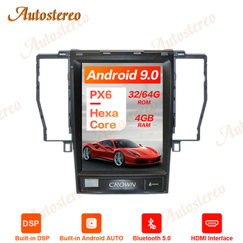 Tesla Style Android 9.0 PX6 Car GPS Navigation For TOYOTA CROWN 12th 2005-2008 Stereo Head unit Multimedia Player Auto Radio DSP