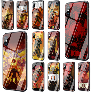 EWAU skull game Doom Newly Arrived Tempered Glass phone case for iphone SE 2020 5 5s SE 6 6s 7 8 plus X XR XS 11 pro Max