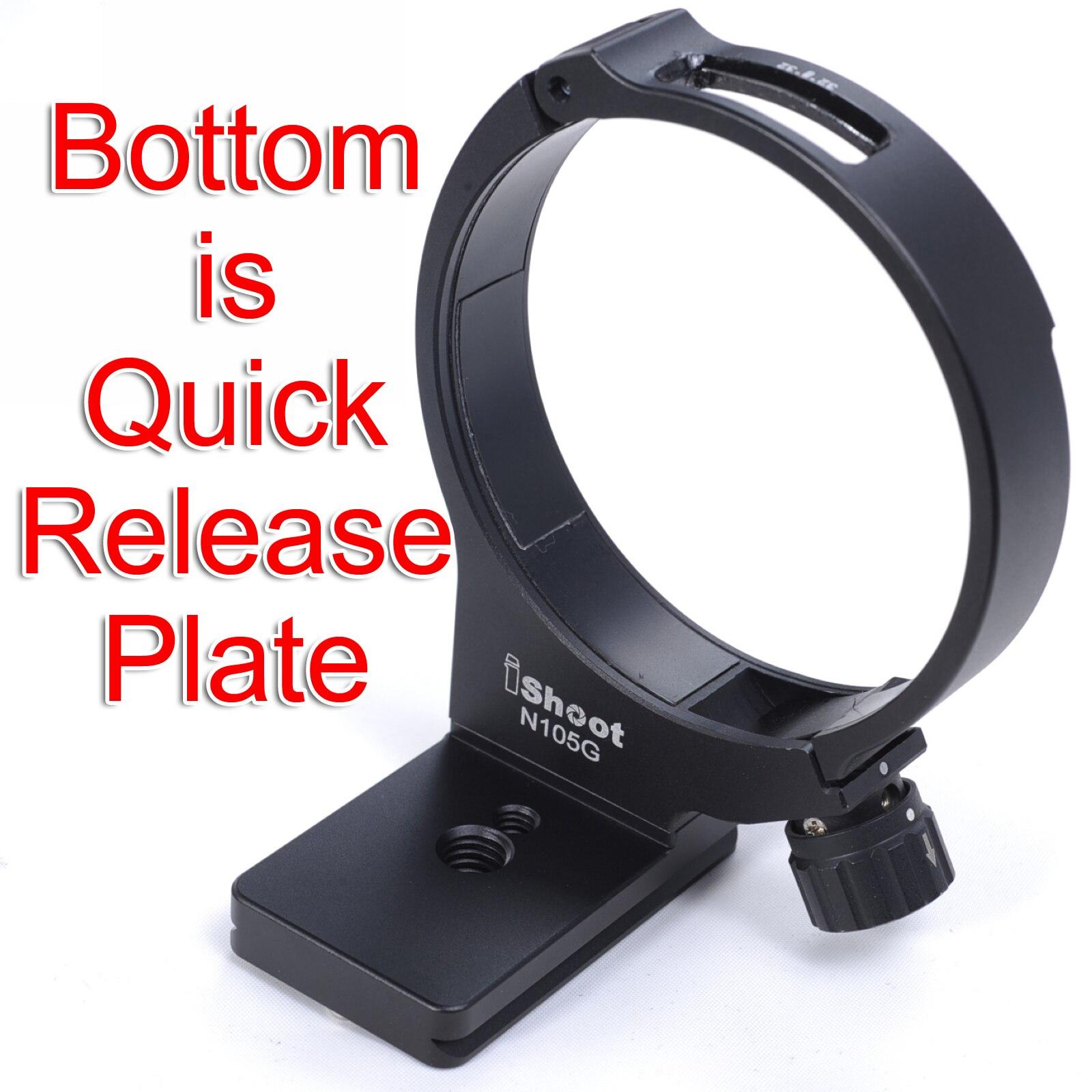 Lens Ondersteuning Kraag Tripod Mount Ring voor Nikon AF S 105mm f/2.8G IF ED VR MICRO Macro Lens  bodem is Camera Quick Release Plaat-in Accessoires voor fotostudio's van Consumentenelektronica op  Groep 1