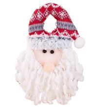 1PC Creative Christmas Door Hanging Snowman Santas Door Knob Ornament Nonwovens Christmas Hanging Ornament for Home Dorm Office