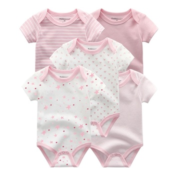 5 Pcs Jumpsuit Bayi Rompers 100% Cotton 3