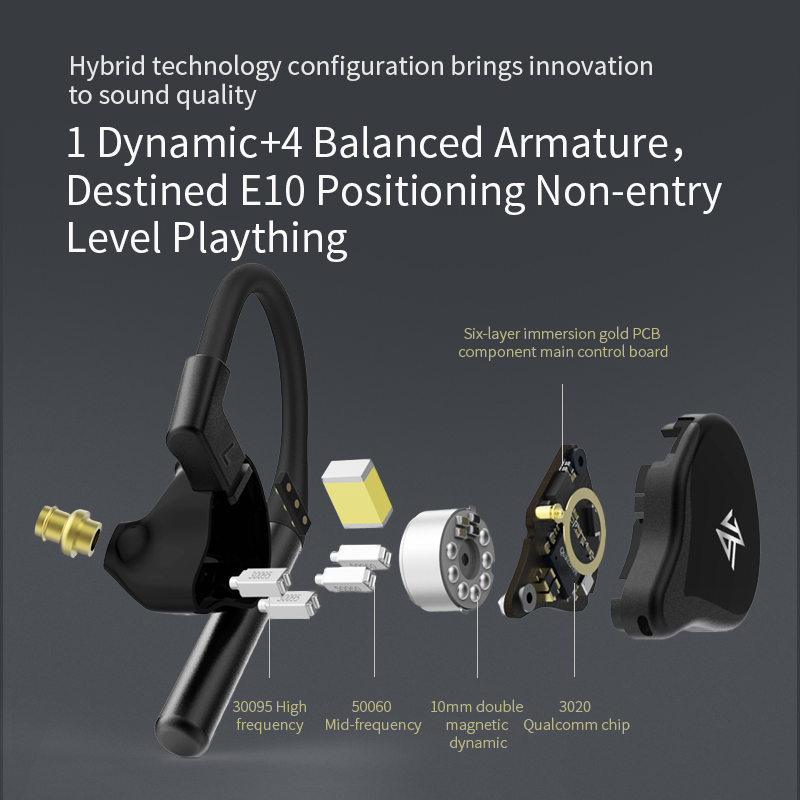 Image 5 - KZ E10 TWS Wireless Earphones Bluetooth 5.0 Earphones Hybrid HIFI Bass Earbuds Headset Sport Noise Cancelling Earphones-in Earphones from Consumer Electronics