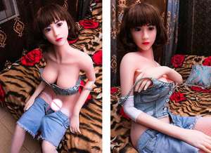 Image 1 - 165cm 165# High quality big breasts sexy realistic adult sex doll oral vaginal anal love doll beauty full TPE and licking male