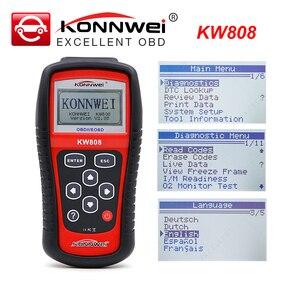 Image 1 - KONNWEI KW808 OBD2 Auto Lettore di Codice Difetto Scanner Strumento di Diagnostica Automotive OBDII lettore di codice