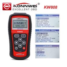 KONNWEI KW808 OBD2 سيارة خطأ رمز قارئ الماسح الضوئي أداة تشخيص أعطال سيارات OBDII رمز القارئ