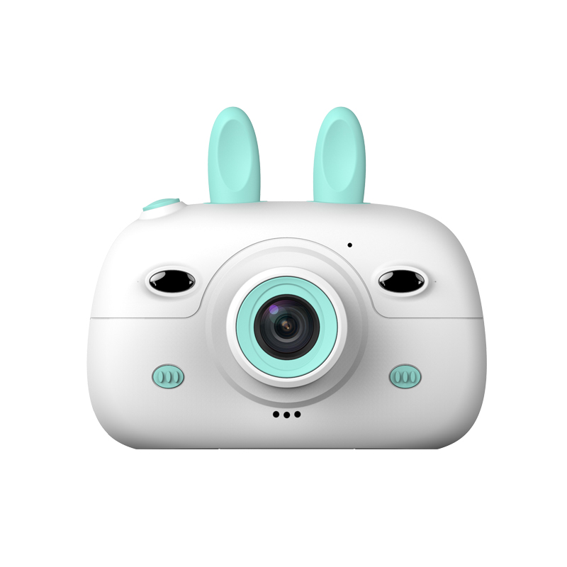 A3 Children Camera 1080P HD SLR Dual Lens Mini Cartoon Camera With 2.4 Inches IPS Screen For Kids LFX-ING Blue