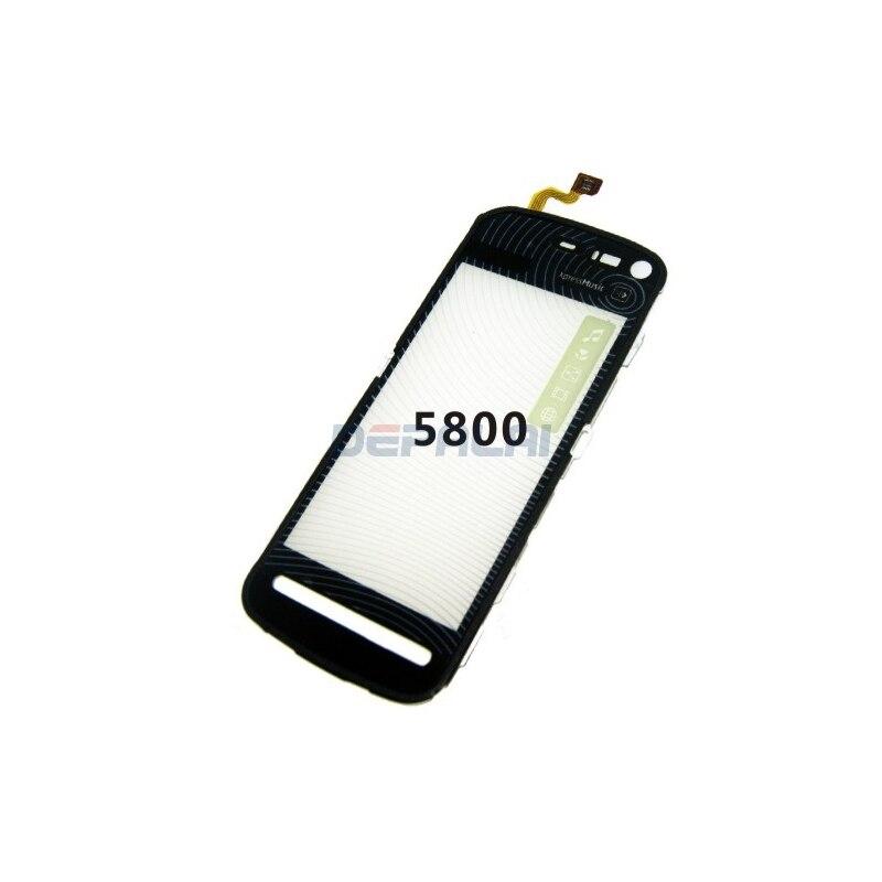 Для Nokia 5800 сенсорный экран стеклянный объектив дигитайзер Переднее стекло экран телефона сенсорная панель Датчик