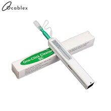 Promocja 10 sztuk jedno kliknięcie złącze światłowodowe długopis czyszczący do 2.5mm SC ST FC lub 1.25mm LC złącza światłowodowe narzędzia