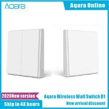 Original Aqara Smart Switch Light Remote Control ZiGBee wifi Wireless Key Wall Switch work For Xiaomi mijia Mi Home App Control
