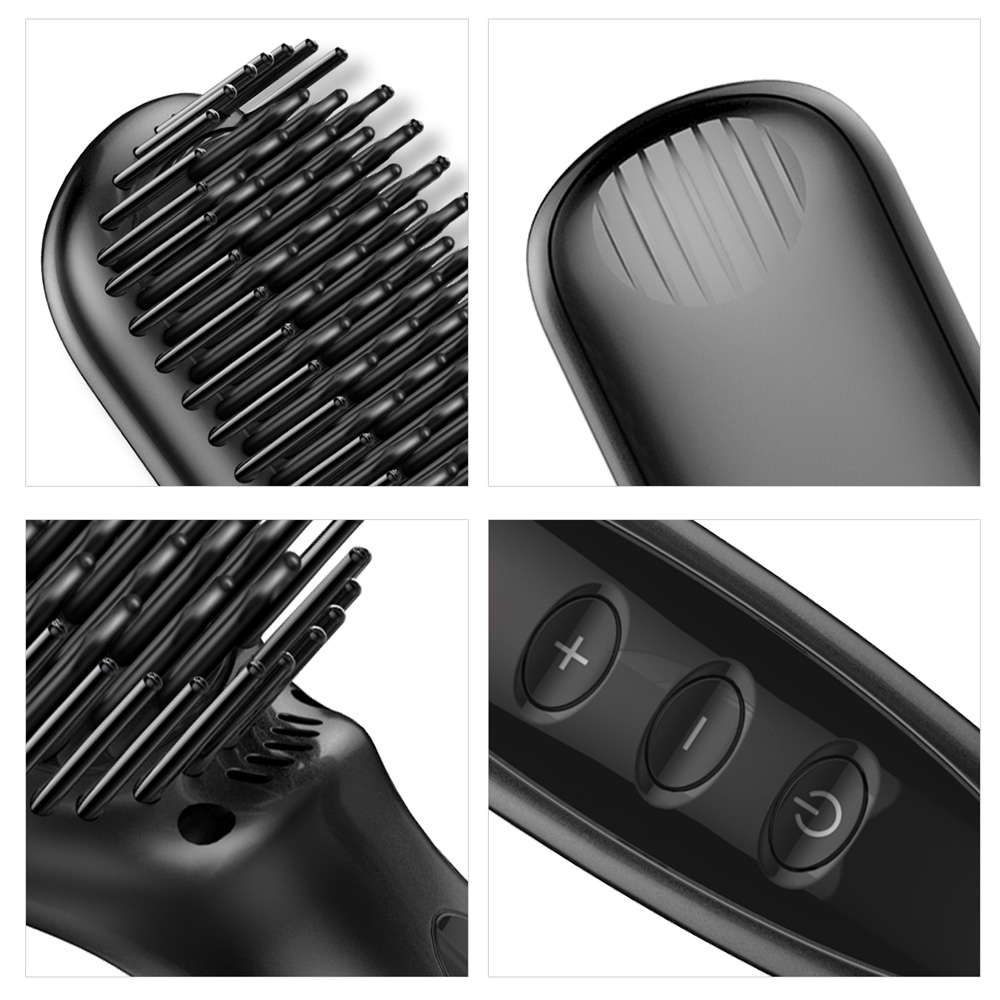 Купить с кэшбэком Hair Brush Straightener Beard Straightener for Men Hot Comb Straightener Barber Beard Straighten Hair Appliance Ionic Hair Brush