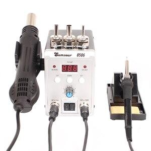 Image 4 - はんだステーション 8586 760 ワット 2 で 1 デジタルディスプレイ smd リワーク熱風銃はんだアイアン 220 220v の esd 溶接はんだ修復ツール