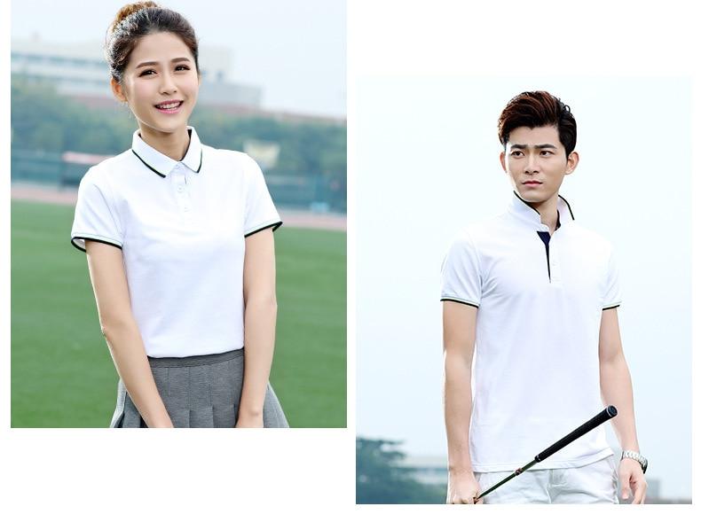 Secagem rápida camisas de golfe para o
