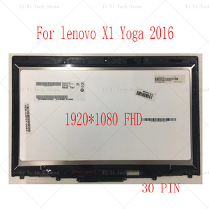 Image 2 - ЖК дисплей 20FQ WQHD диагональю 14 дюймов с сенсорным экраном и дигитайзером в сборе для Lenovo X1 Yoga 1 го поколения 2560*1440 2016 года