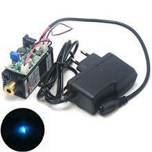 w 12V Power Adapter 488nm 60mW Cyan-Blue Laser Dot Module Focusable Head Fan