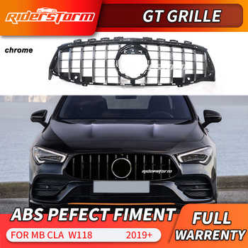 Pour CLA W118 GT Grille avant GTR racing Grill pour CLA200 220d W118 amg grille cla200 diamant grille pour cla180 220d