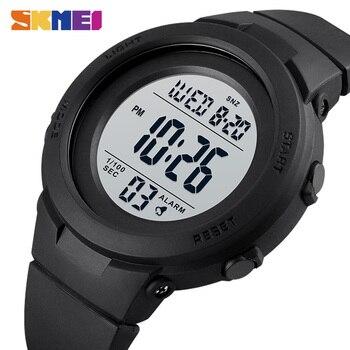 Skmei duplo tempo relógios esportivos digitais dos homens 5bar à prova dshockproof água à prova de choque relógios de pulso de hora moda casual reloj hombre 1615 1