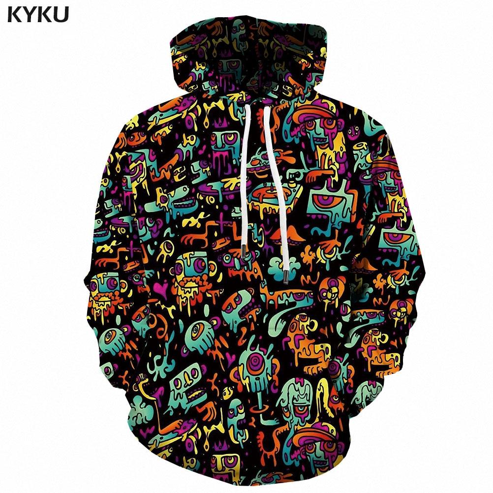 3d Hoodies Psychedelic Sweatshirts men Element Hooded Casual Abstract Hoody Anime Graffiti Hoodie Print Funny 3d Printed 3