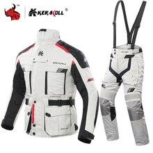 KERAKOLL Chaqueta de Moto impermeable para hombre, conjunto de Chaqueta de carreras, equipo de protección para Motocross, Chaqueta de competición y carretera