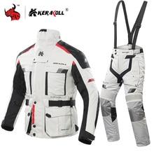 Kerakoll Motorjas Mannen Chaqueta Moto Waterdicht Moto Racing Jas Set Beschermende Kleding Motocross Off Road Racing Jas