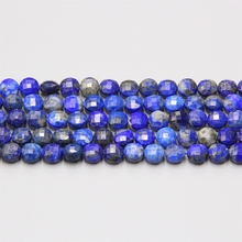 Lapis lazuli Faceted Stone Beads Coin Blue Natural Stone Loose Beads 15 Strand For jewelry Necklace Bracelet DIY Making wholesale 12 18 mm stick shape lapis lazuli blue stone beads for jewelry making diy necklace bracelet material strand 15