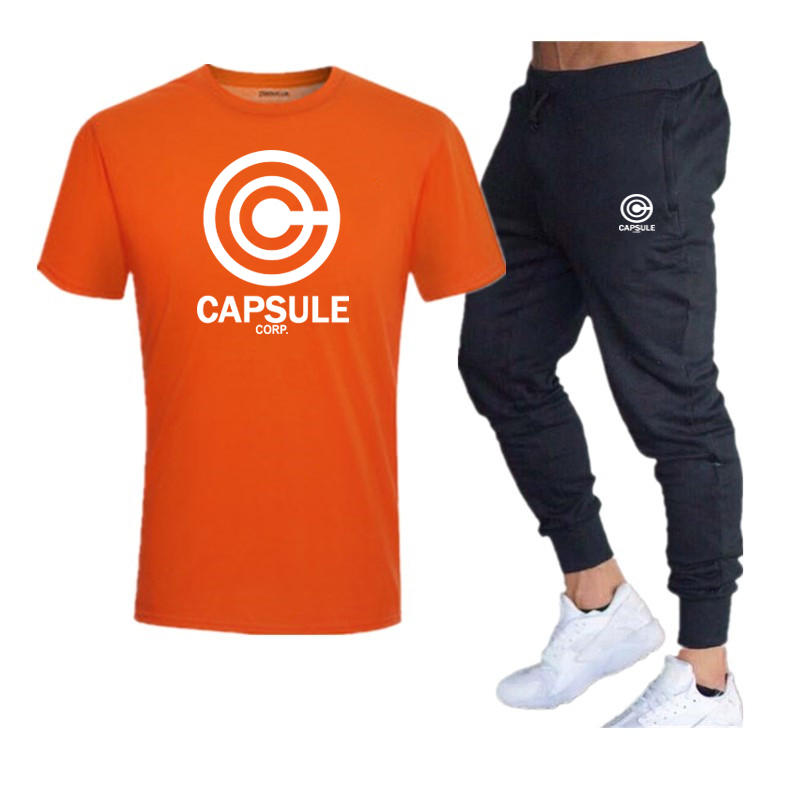 2020Hot Men's Sets T Shirts + Pants Two Pieces Sets Casual Tracksuit Basketball New Fashion Print Suits Sportwear Fitness Shirts