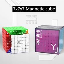 YJ YF7M V2M kostka magnetyczna 7x7x7 kostka rubika magiczna kostka V2 M 7 #215 7 kostka rubika profesjonalna kostka magnetyczna 7*7 Puzzle do układania na czas zabawki dla dzieci magia cube V2M Magnetic cube 7 #215 7 Magic Cube tanie tanio Z tworzywa sztucznego Built-in positioning magnet YJ magic cube 7x7x7 speed cube 5-7 lat 8-11 lat 12-15 lat Dorośli 6 lat