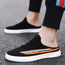 2020 Men Casual Sandals Shoes Fashion Breathable Canvas Sneakers Summer Beach Slippers Walking