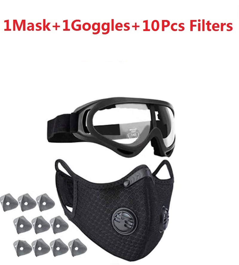 Reusable Washable Activated Carbon Filter Outdoor Sports Bibs Running Cycling Dust Filter Shipping To US