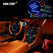 Colorful LED Light Car Decoration Interior Accessories for Girls Dashboard Ornament Remote Control Inside Modified Car Ambient