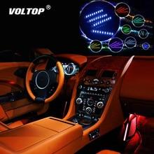 สีสัน LED รถตกแต่งภายในอุปกรณ์เสริมสำหรับสาว Dashboard เครื่องประดับรีโมทคอนโทรลภายในดัดแปลงรถ Ambient